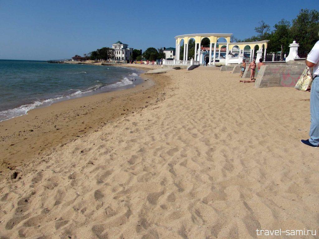 пляж в Евпатории