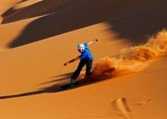 На сноуборде по пустыне, экстремал