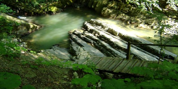 Водопады Змейка спуск