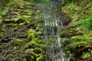 Водопад Девичьи Слезы летом