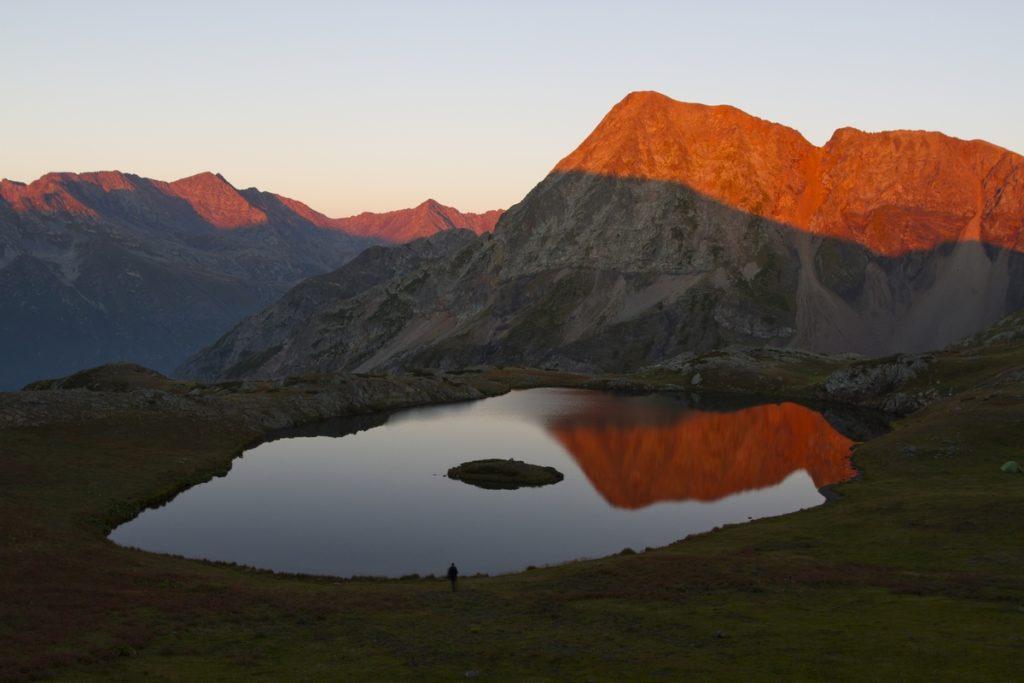 Озеро Клумбочка на закате