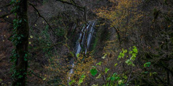 Ореховский водопад на закате