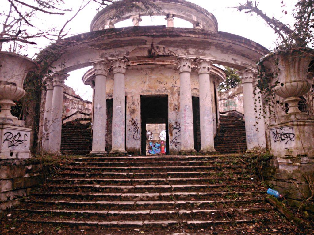 Гора Ахун заброшеный ресторан