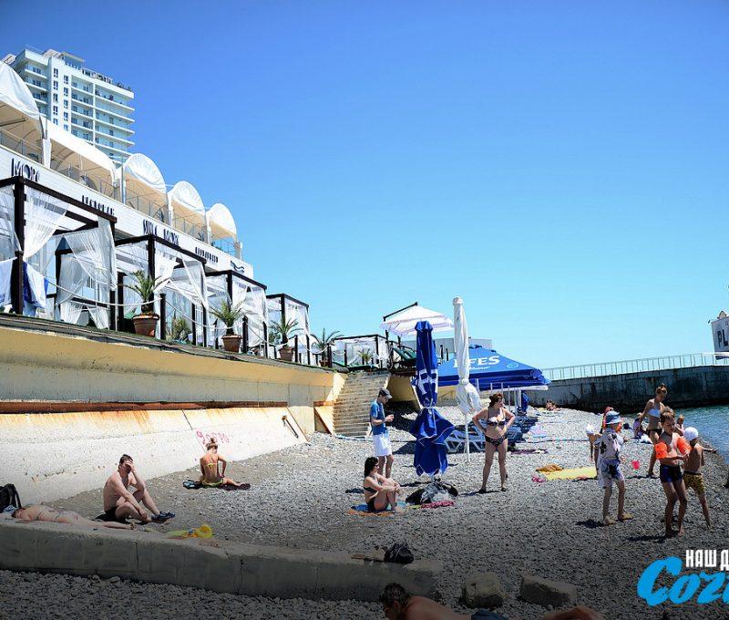 жемчужина сочи пляж