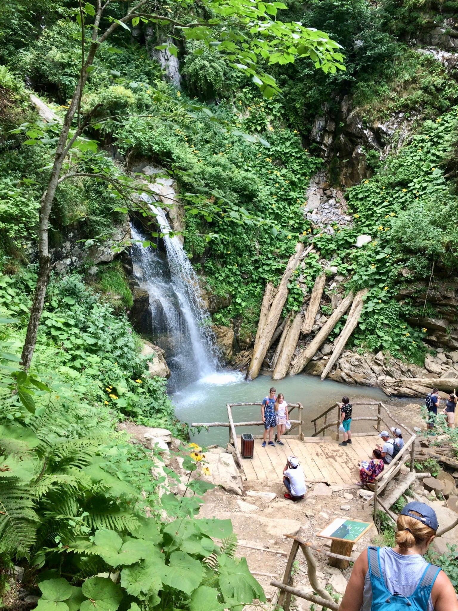 Парк водопадов на Розе Хутор