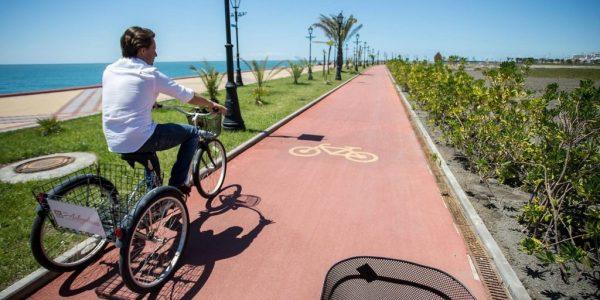 Велодорожка на Имеретинской Набережной