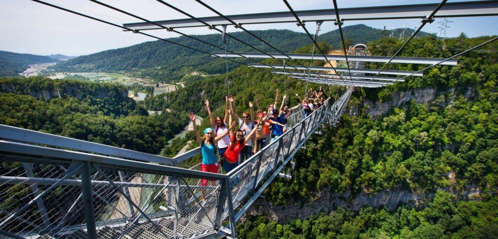 Скайпарк мост красивое место
