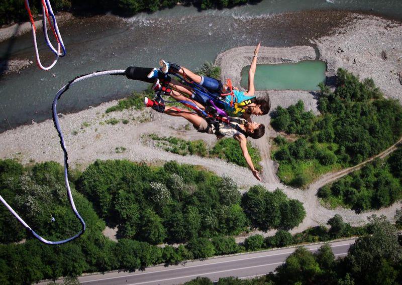 Скайпарк прыжки дабл