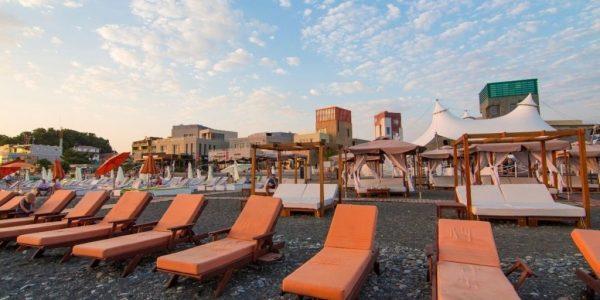 пляж Мандарин набережная адлера