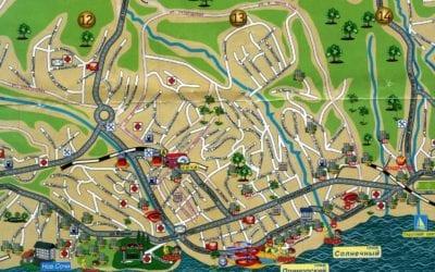 Карта романтического Сочи