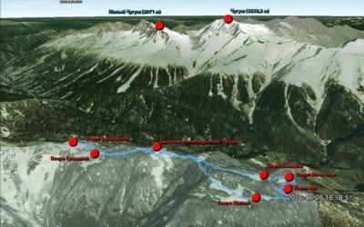 Карта с маршрутом