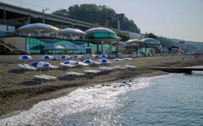 Береговая линия пляжа Спутник