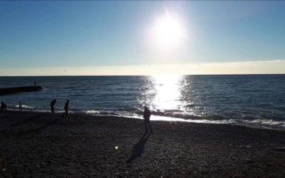 Береговая линия пляжа русалочка